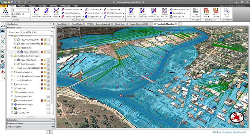 Cartographie des inondations GeoHECRAS 2D